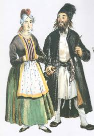 19 Century Halloween Costumes 19th Century Drawing Jewish Couple Pale