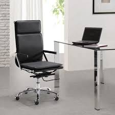Desk Chair Modern Office Simple Black Leather Reclining Office Chair Ideas