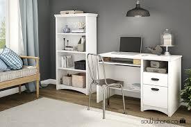 amazon com south shore gascony 4 shelf bookcase pure white