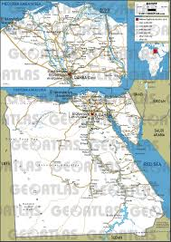 Map Egypt Geoatlas Countries Egypt Map City Illustrator Fully