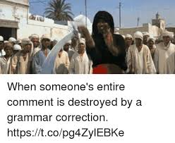 Grammar Correction Meme - when someone s entire comment is destroyed by a grammar correction
