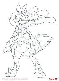 how to draw mega lucario from pokemon mangajam com