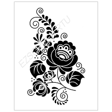 ready to use diy screen printing stencil ornate flower floral