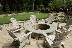 Wood Firepit Wood Burning Pit Pool Traditional With Landscaping Paver