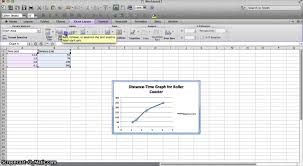 how to make a distance time graph in excel youtube