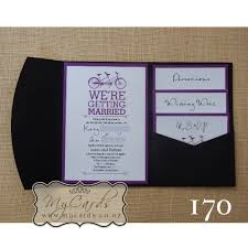 wedding invitation inserts a6 pocketfold with inserts wedding invitation 170 mycards