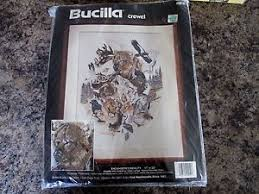 bucilla crewel embroidery kit endangered wildlife new