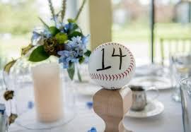 themed table numbers 22 cool baseball themed bridal shower ideas weddingomania