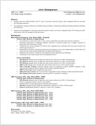 Sales And Marketing Resume Sample by Sales Resumes Examples