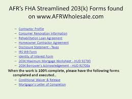 Fha Streamline Worksheet by Fha Streamlined 203 K Fha Streamlined 203 K Review What Is The