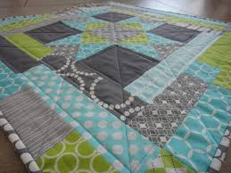 Teal Blue And Lime Green Bedspreads A Blue Sky Kind Of Life Ohio Log Cabin Mini Quilt Finished