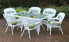 Outdoor Woven Chairs White Wicker Patio Furniture Sets Patio Decoration