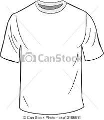 vector clip art of white t shirt design template white t shirt
