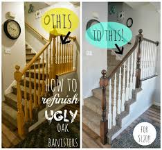 How To Paint Banister Two Points For Honesty Refinishing Oak Stair Railings