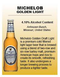 michelob golden light alcohol content what s on tap blue line sports bar grill st cloud