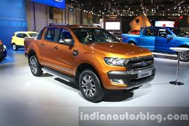 ford ranger 2016 2016 ford ranger wildtrak front three quarter at the 2015 dubai
