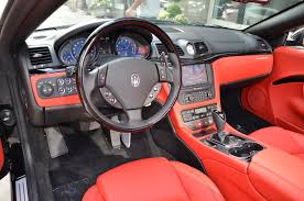 maserati granturismo convertible red interior 2017 maserati granturismo convertible stock m515 for sale near