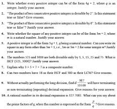 class 10 important questions for maths u2013 real numbers aglasem