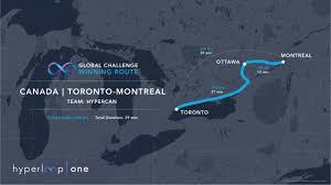 One World Route Map by Connecting 25 Of Canada U0027s Population With Hyperloop Hyperloop One