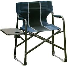 Folding Directors Chair With Side Table Chair Fold U0026 Go Camp Chair With Drink Holder U0026 Side Table