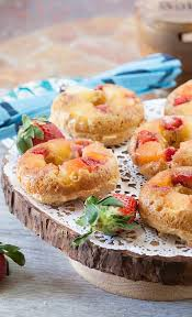 pineapple upside down donuts with strawberries food done light