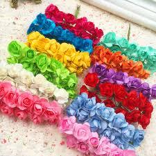 144 pcs a artificial flowers mini paper flowers wedding gift box
