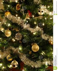 gold and silver christmas tree stock photography image 396882