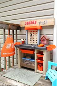 Kids Work Bench Plans Space Saving Kids Workshop Step2 Home Depot Workbench Diy Play