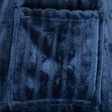 Shower Comfort Unisex Luxury Soft Fleece Plush Bathrobe Dressing Gown Shower