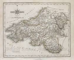 Cary Map South Wales U0027 By John Cary C 1787 1788 New U0026 Correct English Atlas