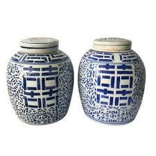 vintage u0026 used blue ginger jars chairish