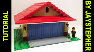 tutorial lego two car garage with door opener youtube