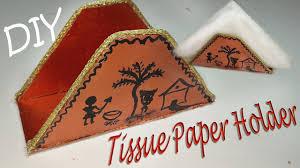 diy how to make a paper napkin holder tissue paper holder