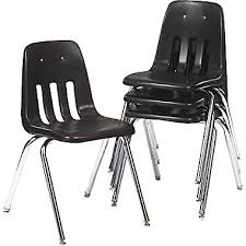 virco 9000 series plastic stacking chairs 4 pack black staples