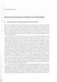 G Stige Sch E K Hen Konversationsanalyse Und Diskursive Psychologie Pdf Download