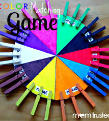how to make this color matching game for your preschooler early