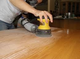 Kitchen Table Refinishing Ravenview - Sanding kitchen table