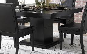 1 267 00 cicero black pedestal 5 pc dining set table and 4 side