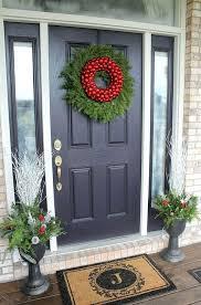 front door garland ideas wreaths doors front door