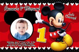 mickey mouse 1st birthday invitations blueklip com
