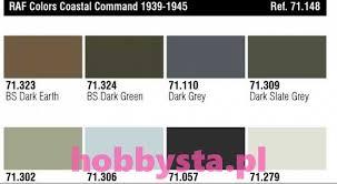 raf colors coastal command 1939 1945 paint set 8 pcs vallejo 71148