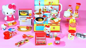 kitchen collectibles sanrio x re ment hello i cooking set happy kitchen