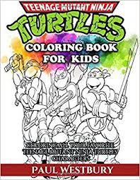 teenage mutant ninja turtles coloring book kids coloring
