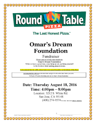 round table pizza mission round table pizza hosts the launch party for 4th annual omar s dream