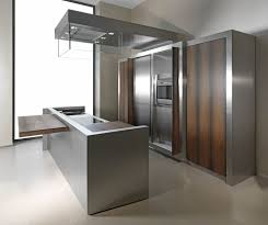 stainless steel kitchen island 7 stainless steel kitchen cabinets with modern look throughout