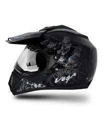 vega motocross helmet vega helmet off road sketched black base with silver graphics