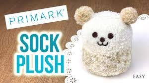 diy gifts primark sock plushies cheap and easy to make
