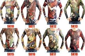 wholesale 50pcs lot quality tattoo top shirts sleeves for women