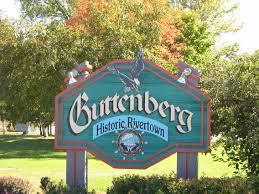 Map Of Iowa Towns Guttenberg