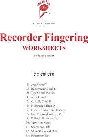 the recorder fingering worksheets can help you make a professional